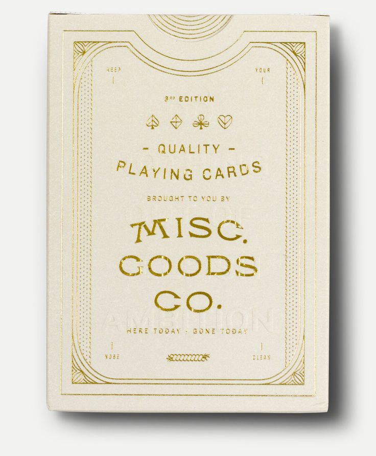 The MGCO Black Deck is a completly redesigned deck of playing cards. The art work for the entire deck has been redone; from the tuck case to every symbol, aces and even the typography used on the card
