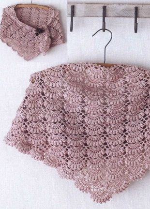 Beautiful crochet shawl with charts