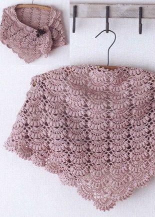 Beautiful crochet shawl with charts