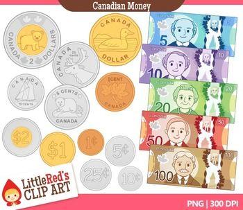 Canadian Money Clipart