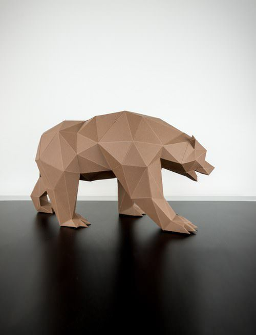 This brown bear Papertrophy is a nice addition to your minimalist home.