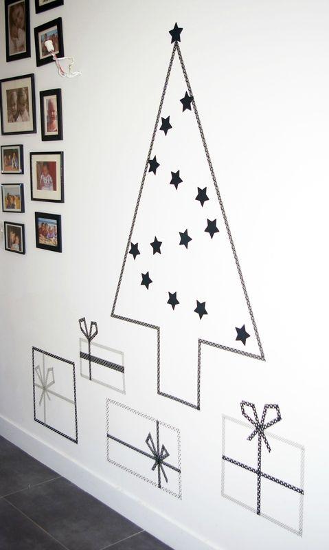decoratie op je muur met masking tape