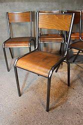 Les 25 meilleures id es de la cat gorie chaises d 39 cole for Chaise 510 mullca
