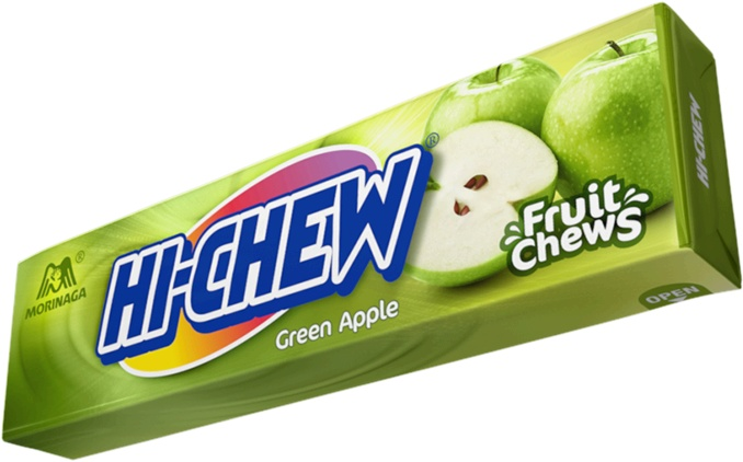BEST Candy in the Universe. Green Apple Hi-Chew Stick - from Japan, something like Starburst - but world's better