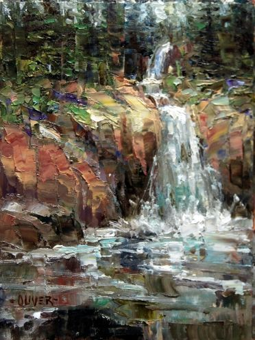 Waterfall at Sylvan Pass - Yellowstone. -- Julie Ford Oliver