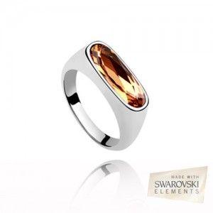 18K White Gold P Swarovski ELEMENTS Ring