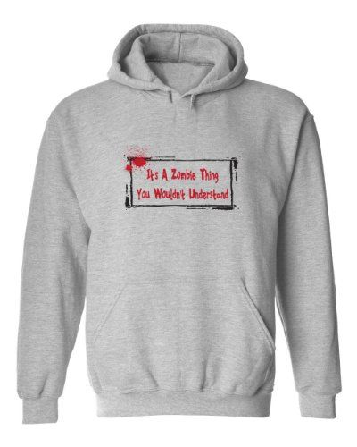 Zombie Underground - Its A Zombie Thing You Wouldnt Understand - Adult Hooded Sweatshirt (Heather Grey XL)