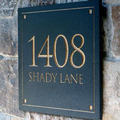 Clarus Crystal Engraved Stone Address Plaque & Reviews | Wayfair