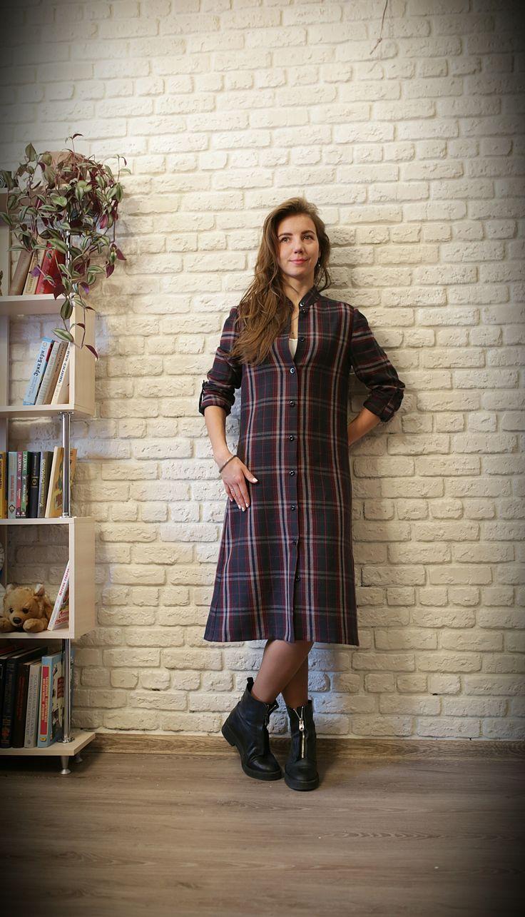 Платье-рубашка-платье-кафтан