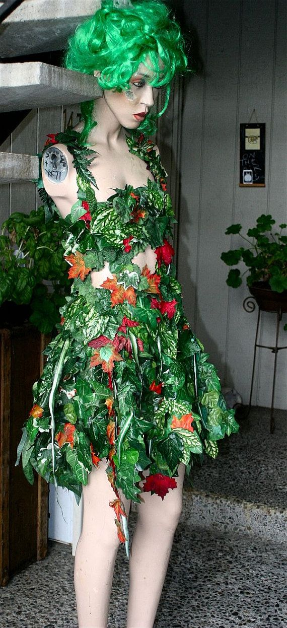 Sexy, Wild Woodland Nymph Tattered Fairy - Goth - Goddess - Nymph - Renaissance - Wedding - Costume - Theater - Ivy - Dress - Gown. $159.00, via Etsy.
