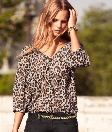 loving animal print looks lately. H Blouse: Blouses, Hm Blouse Love, Fashion, Fall Style, Fav Styles, Leopard Prints