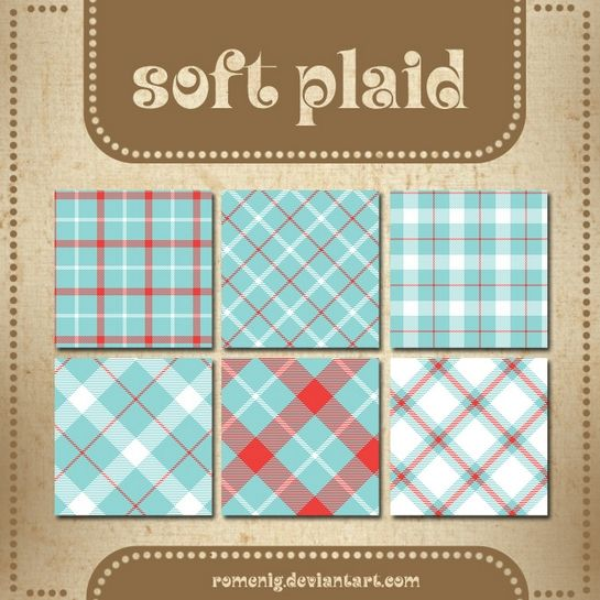 Efeito Photoshop: Soft Plaid Patterns