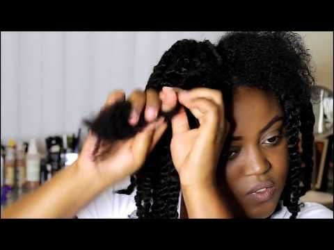Full Tutorial -Bomb Twist out tutorial on 3c/4a hair with Xotica Hair extensions - YouTube