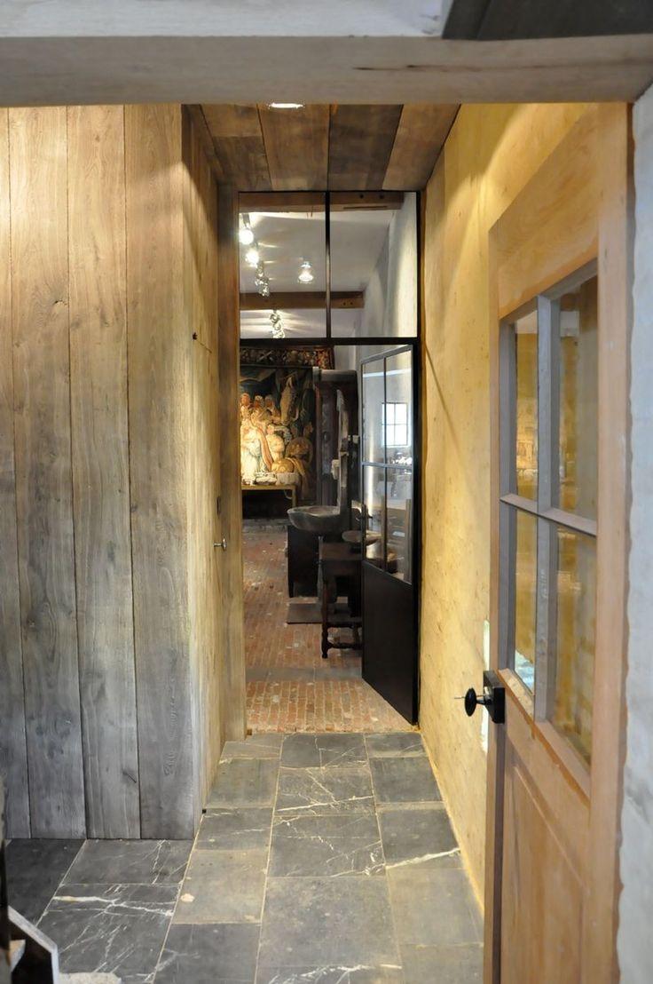 Steel door! Window all the way to the ceiling