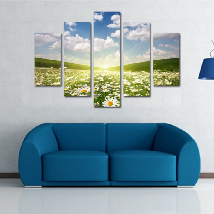 Tablouri canvas din 5 piese | Flower Field