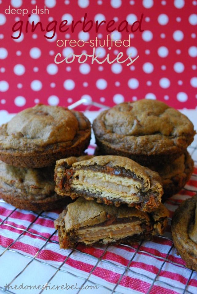 Deep fried gingerbread Oreo stuffed cookies. Need I say more?
