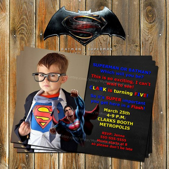 Batman VS Superman-Superhero by MyPrintableParty on Etsy