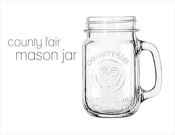 Mason Jars with Handles - county fair design