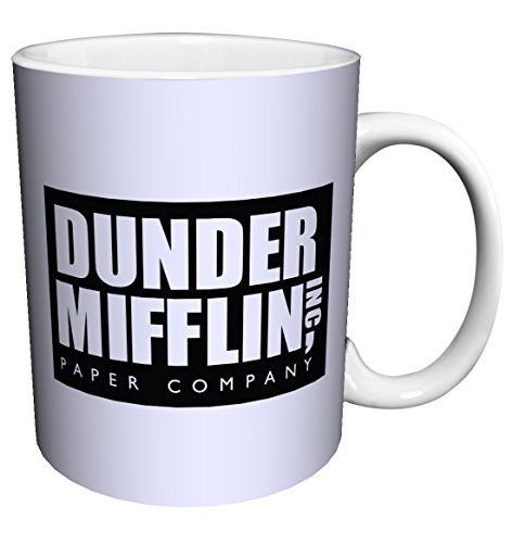 Dunder Mifflin (The Office) World's Best Boss TV Television Show Ceramic Gift Coffee (Tea, Cocoa) 11 Oz. Mug