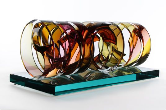 Distracted Thoughts by Phil Vickery. 2011? Mould-blown glass with cutting and polishing.