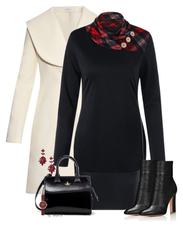 Monday's Outfit by alina-n on Polyvore featuring J.W. Anderson, Vivienne Westwood, Miss Selfridge, Skagen, ootd, fashionset and fallfashion