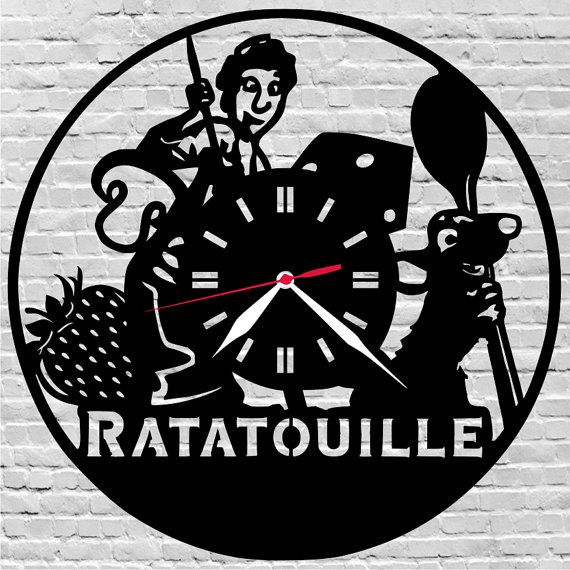 29$ Wooden wall clock #Gift ideas, # ratatouille, #disney, #kids gift idea, #child room  by lovelygift4you on Etsy