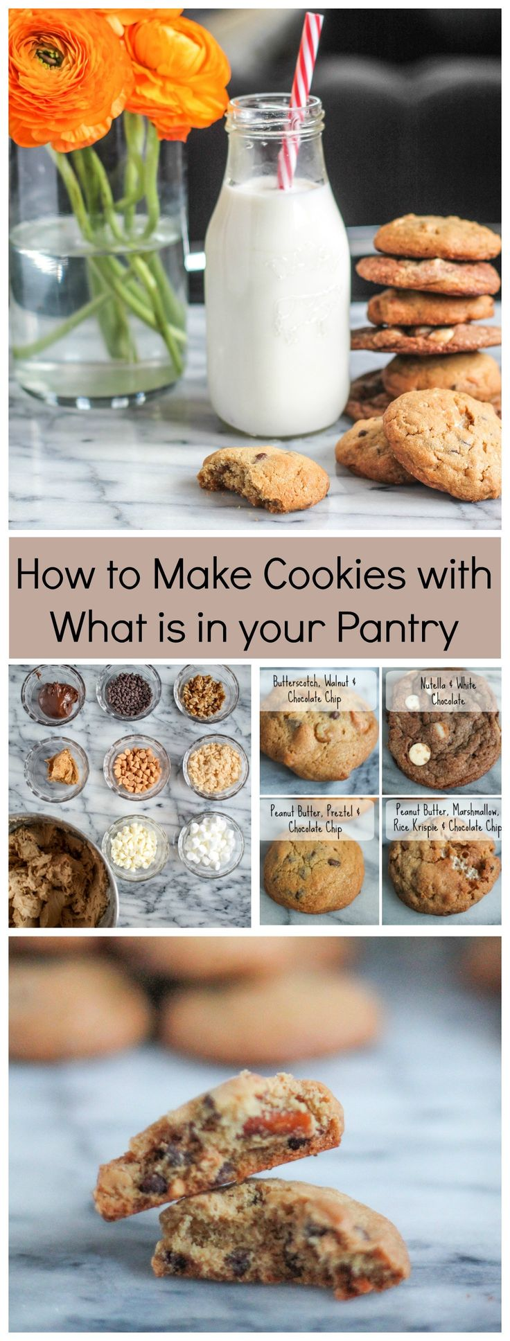 One day I was searching through my cupboard of baking ingredients, and inspiration struck. I had all sorts of chocolate chips, butterscotch chips, white chocolate chips, nuts, and other ingredients. What if I mixed up classic chocolate chip cookies, but instead of just adding the chocolate chips, I got a bit more creative. This is (read more)