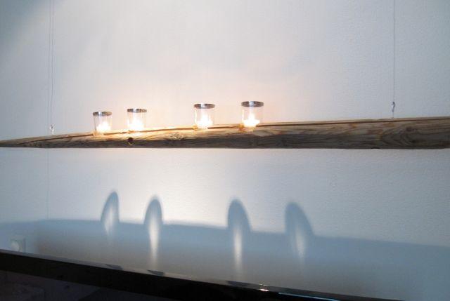 Heinäseiväskynttelikkö seinälle