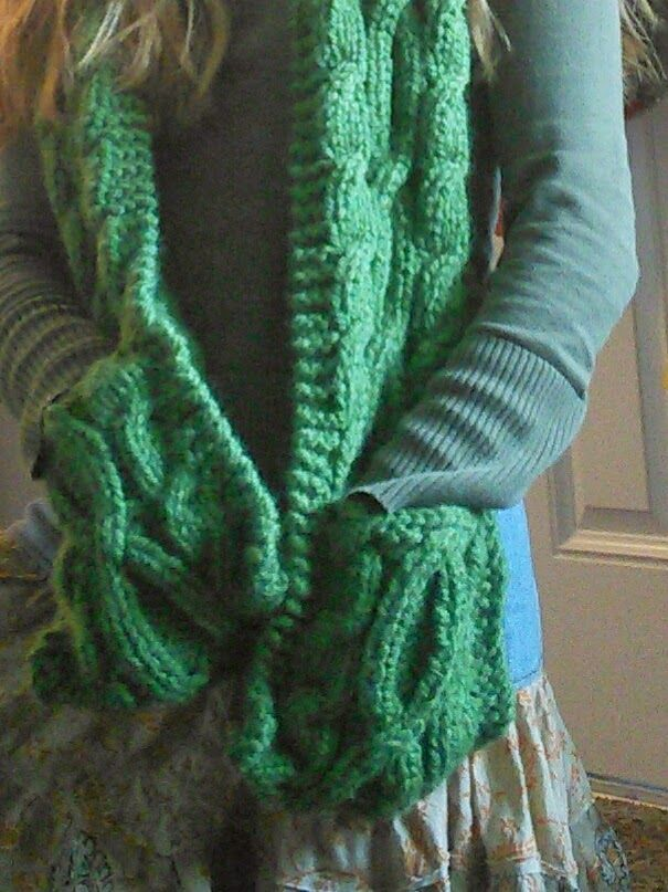 Knitting Pattern For A Scarf With Pockets : 17 Best images about Knitting Scarf/Cowl Patterns on Pinterest Cable, Drops...