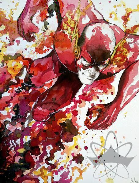 """The Flash. By Galaxara. Art inspired by """"Cinar"""" from Deviantart. Please respect copyright and credits"""