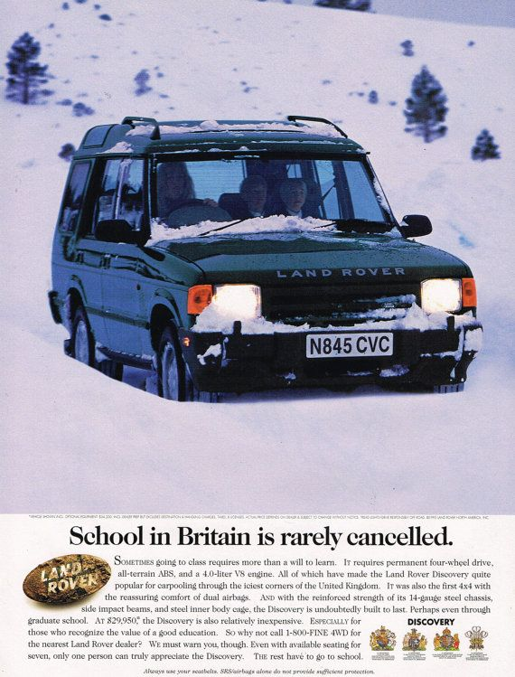 Land Rover Discovery Luxury Suv Print Ad Oldadsplus