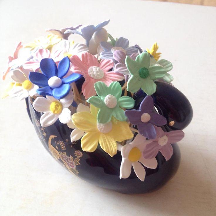 sanat kili bahar çiçekleri