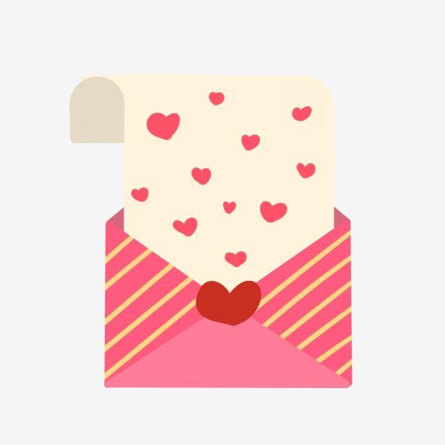 Red Envelope Red Heart Love Love Letter Love Letter Illustration