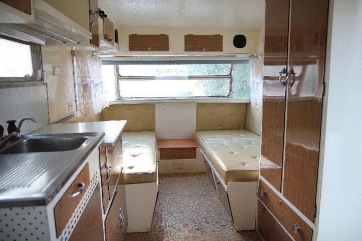Original Interior Of A 1966 Viscount Vintage Caravan