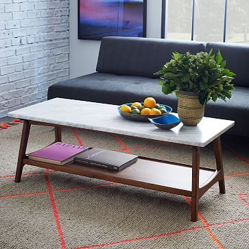 Coffee Table - Reminds me of table in GR basement, could use that! Reeve Mid-Century Rectangular Coffee Table #westelm