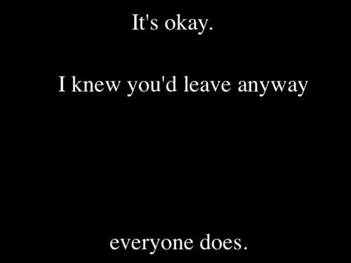 Yup. I knew you wouldn't stay long.. It's okay nobody ever does...