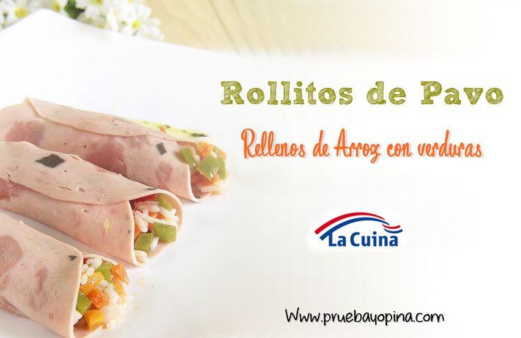 El blog Prueba Productos Disfruta y Opina ha preparado una #receta riquísima con nuestro fiambre de #pavo relleno con pistachos de #LaCuina rellenos de arroz con verduras