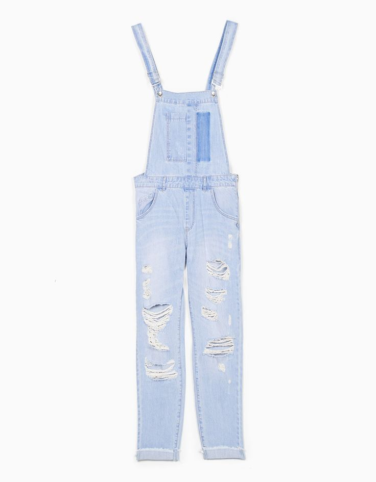 Stradivarius Colombia Peto largo denim - STAY - MUJER | #MomentoExtraordinario