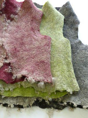 Leuk vestje, zo met gekleurde wol van binnen en een laagje wit met krullen van buiten