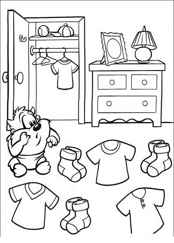 baby looney tunes coloring pages for kids 43