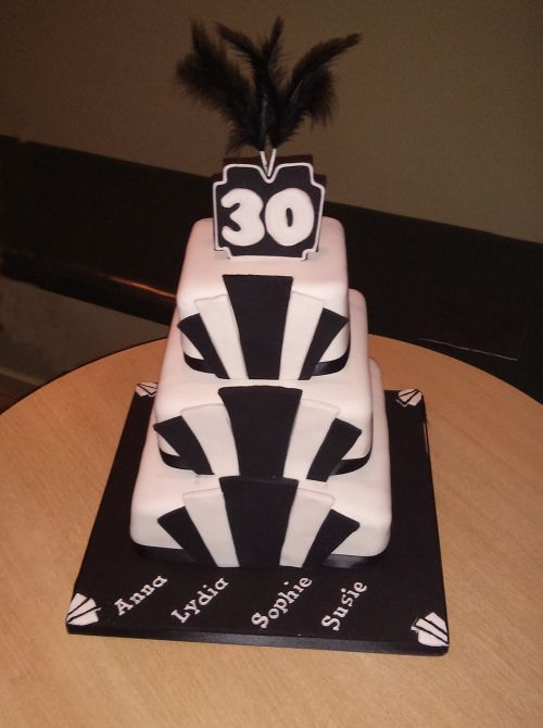 Earl and Greenly 1920s themed Art Deco cake for my 30th birthday party! It was delicious!