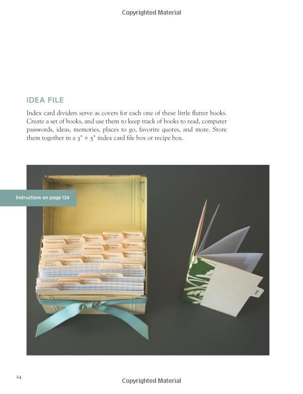 Book Cover Craft Books : Use index card dividers for covers and cards or