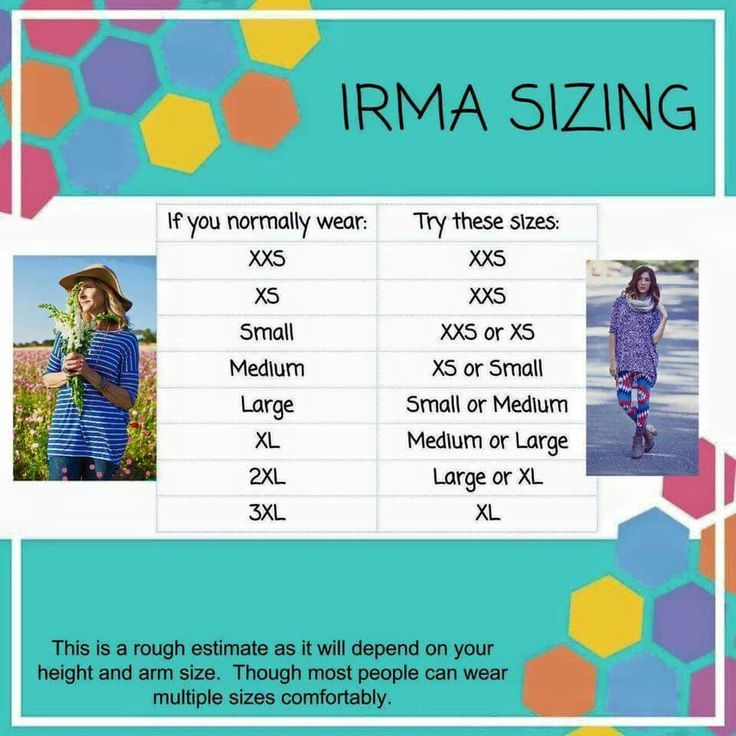 Irma Sizing www.facebook.com/groups/LuLaRoewithBridgetBurton