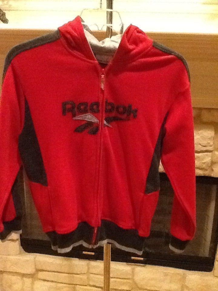 d686f2c9 BOYS HOODIE RED HOODED SWEATSHIRT ZIPPER FRONT TOP SHIRT ...