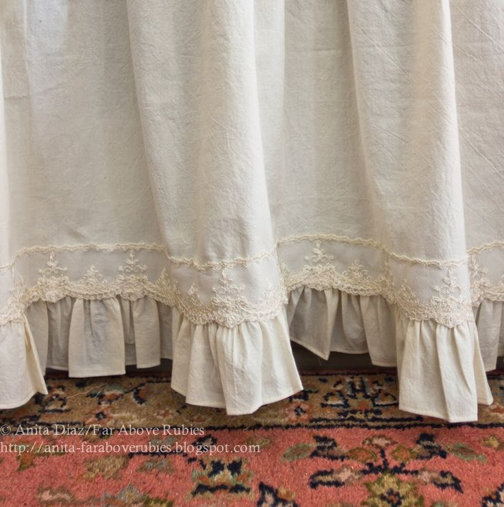 Far Above Rubies Muslin And Lace Sink Skirt Cafe Curtains