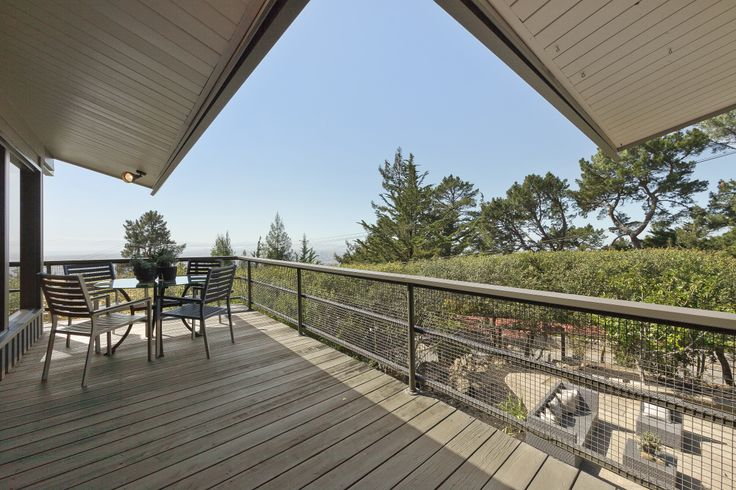 Incredible views from wrap-around decks.  Perfect for the indoor-outdoor living we love here in California.  www.6120Castle.com