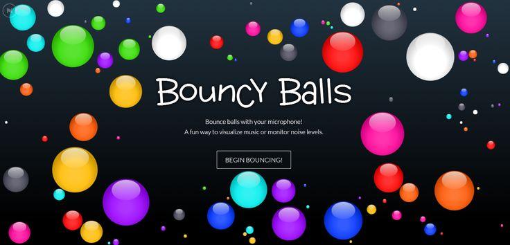 Gestion du volume sonore dans la classe - logiciel Bouncy Balls - Craie hâtive