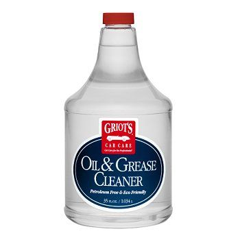 Griot's Garage Oil and Grease Cleaner to clean garage floor