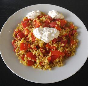Rezept für Paprika-Bulgur-Pfanne, schnell und einfach gemacht   – Kochen