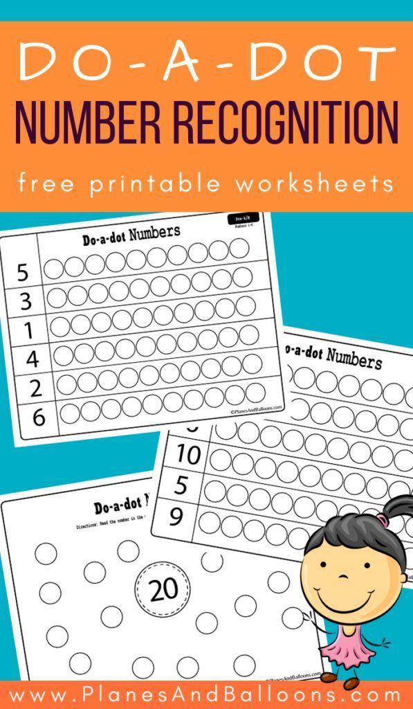 Dot marker number recognition worksheets | Numbers ...